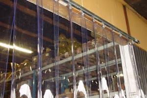 Slagter forhæng som er gardiner i strimler