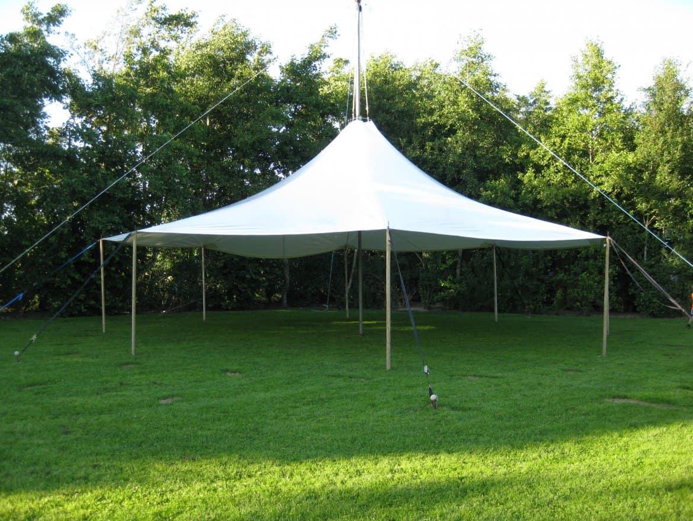 Mastesejl Løgballe Camping 12 m i hvid pvc dug