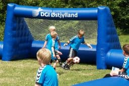 Oppustelig fodboldbane DGI østjylland